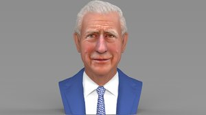 prince charles bust ready 3D model