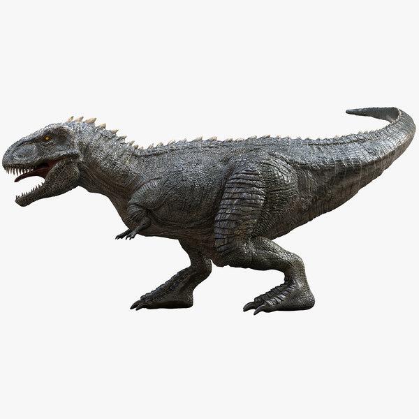 v-ray rigged rex 3D