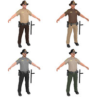 pack sheriff 3D model