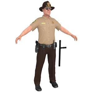 sheriff man gun 3D