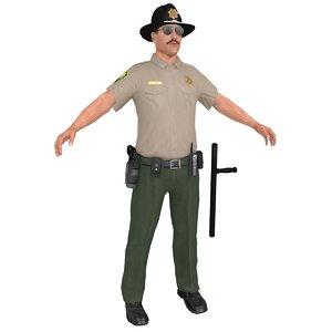 sheriff man gun model