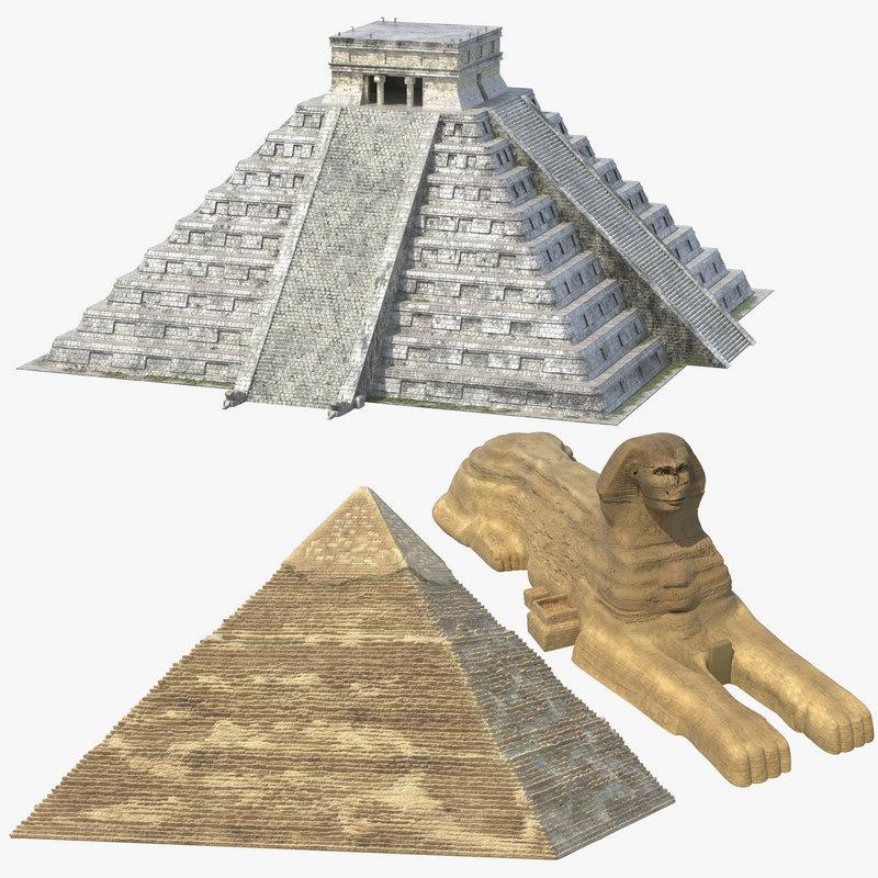 3D ancient temples model
