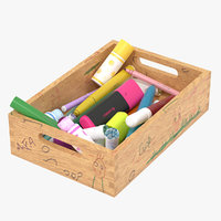 3D box used markers bedrooms model
