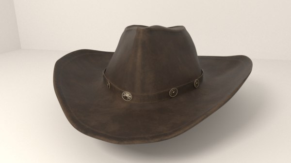 cowboy hat fedora 3D