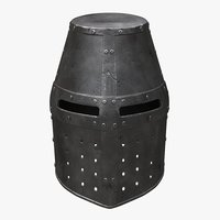 helm crusader 3D model