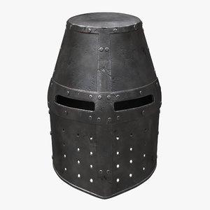 helm crusader 3D model