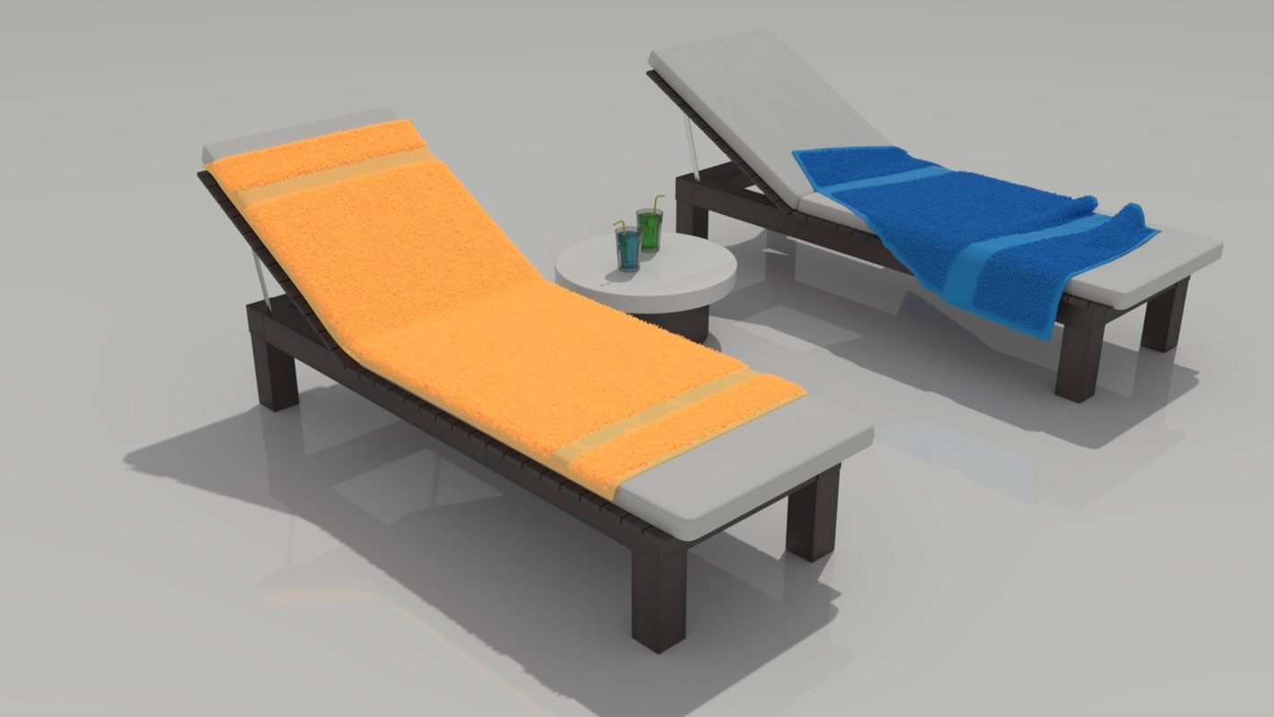 loungers coktail table 3D model