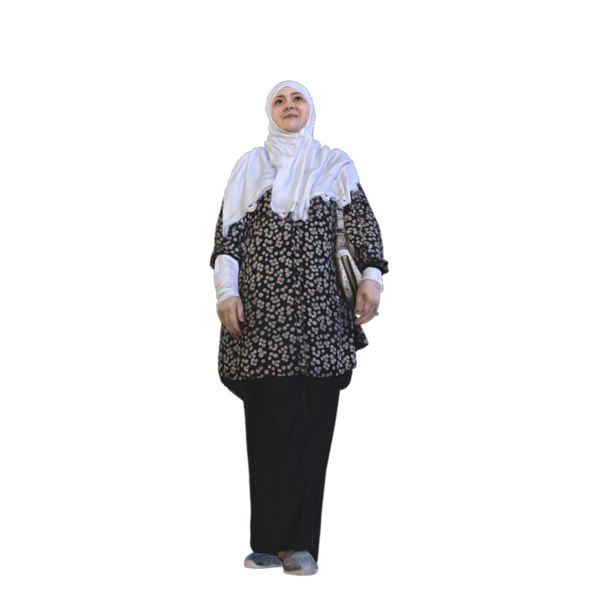 scanned woman hijab 3D model