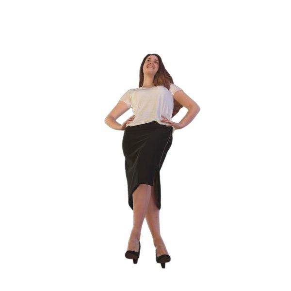 scanned woman business 3D model
