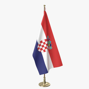 croatia office flag 3D model