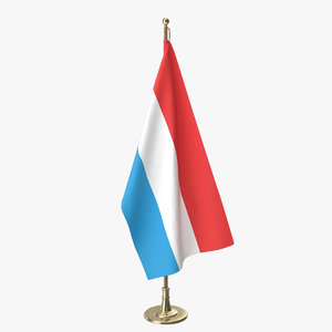 luxembourg office flag 3D model