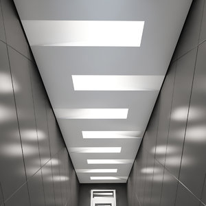 3D suspended ceiling light