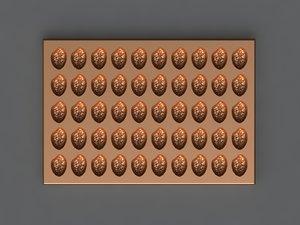 chocolate mold hand 3D