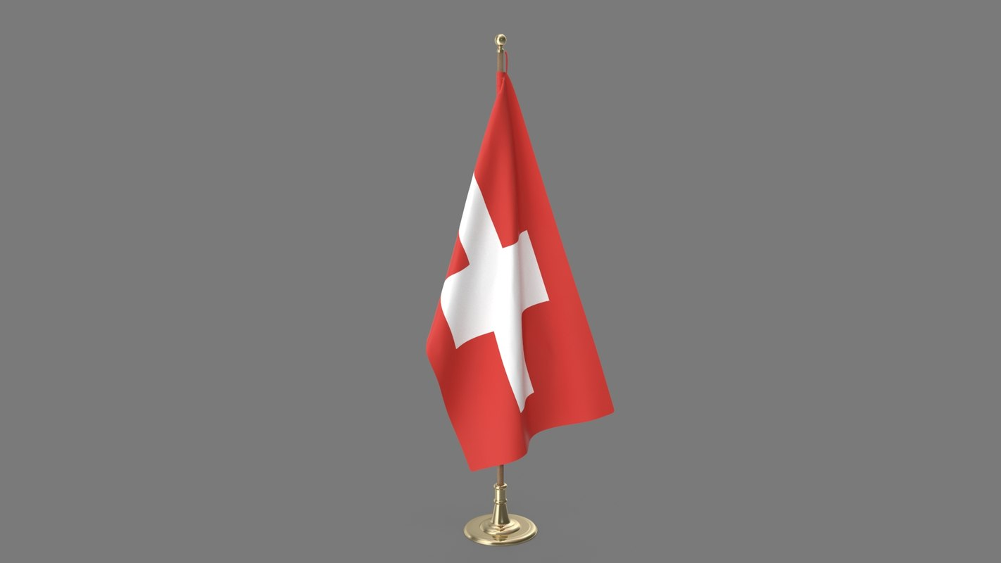 3D swiss office flag