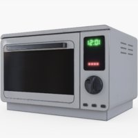 microwave pbr 3D model
