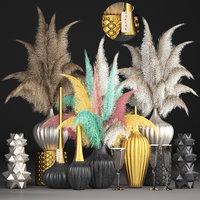 3D model decor dry flowers phragmites