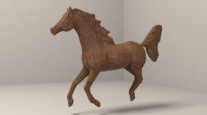 3D horse wooden