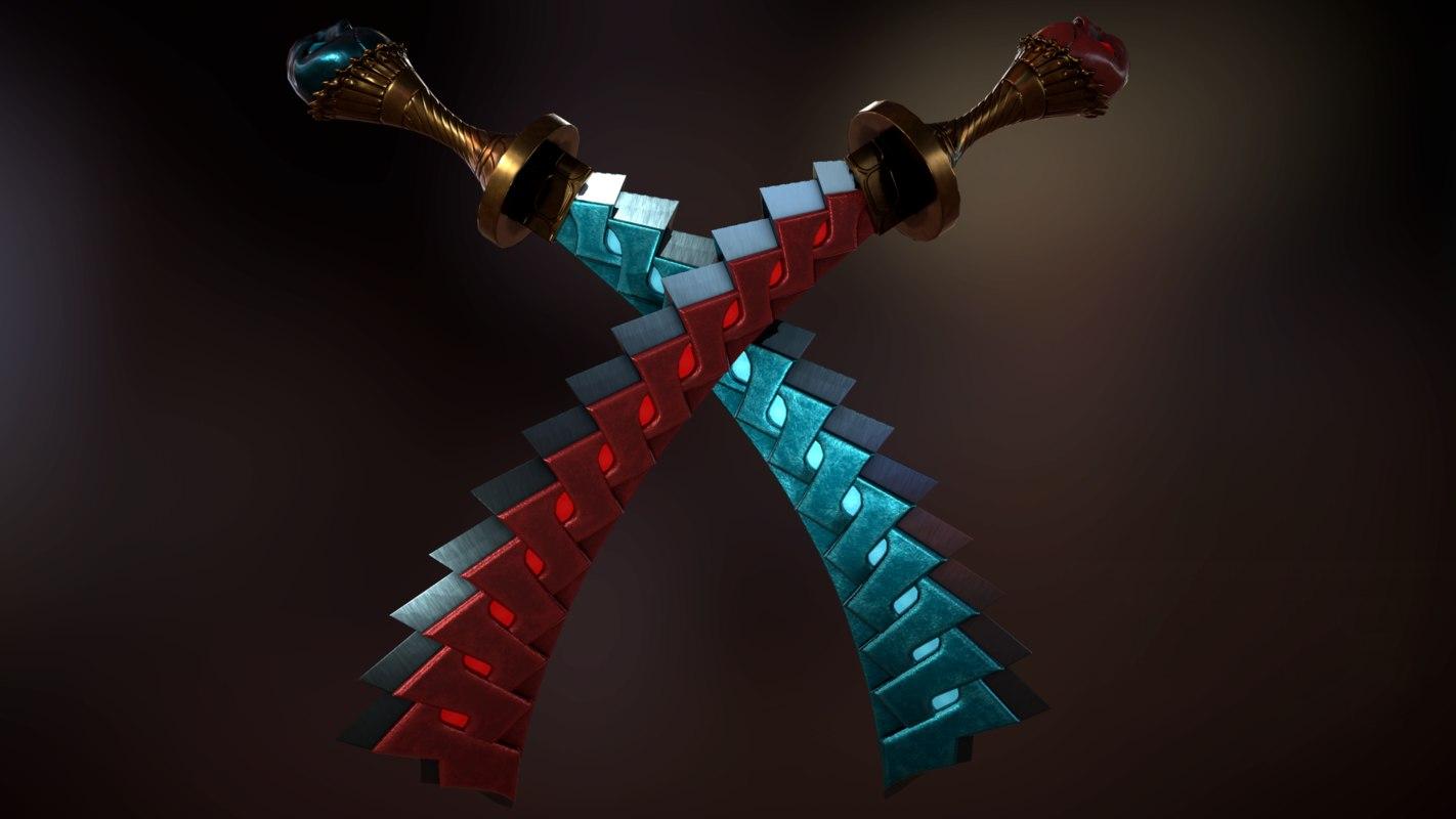 3D model swords devil 3