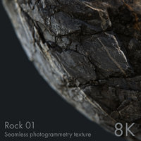 Rock 01 - seamless photogrammetry texture - 8K