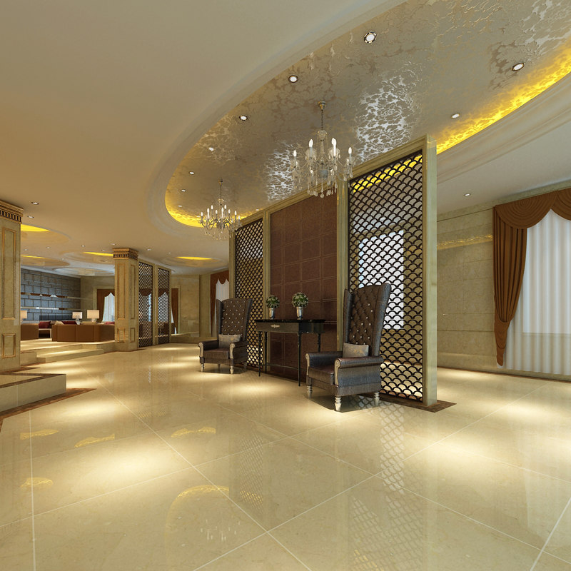 lobby scene 3D model