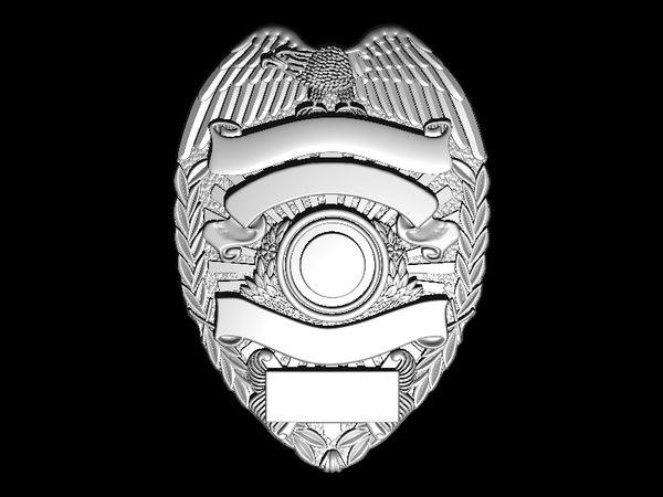 eagle sheriff badge 3D model