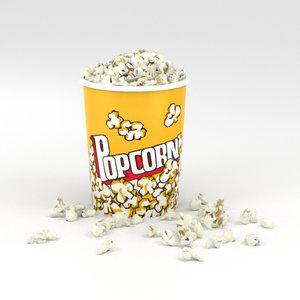 3D popcorn pop corn