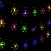 LED garland in the form of snowflakes animated