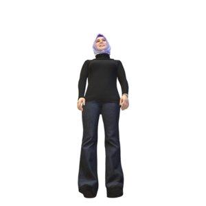 woman hijab 3D model