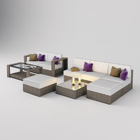 modern outdoor furniture garden 3D model