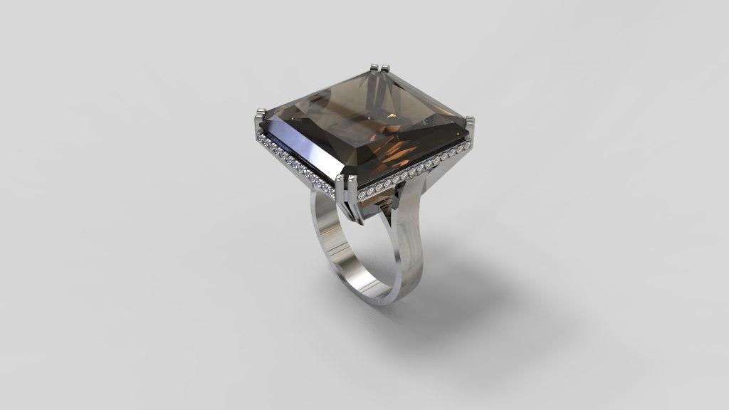 cocktail ring 3D model