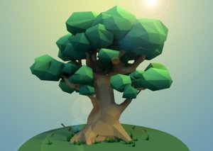 big tree plants 3D