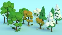 Forest Assets - Trees Pack Low-Poly Rocks and Grass