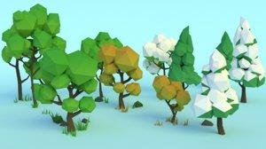 3D forest assets - trees model