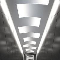3D suspended ceiling light model