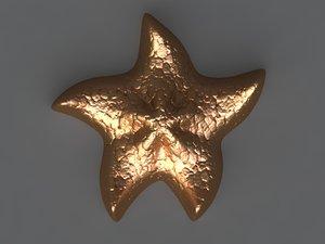 3D starfish mold hand