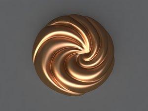 3D spiral mold hand