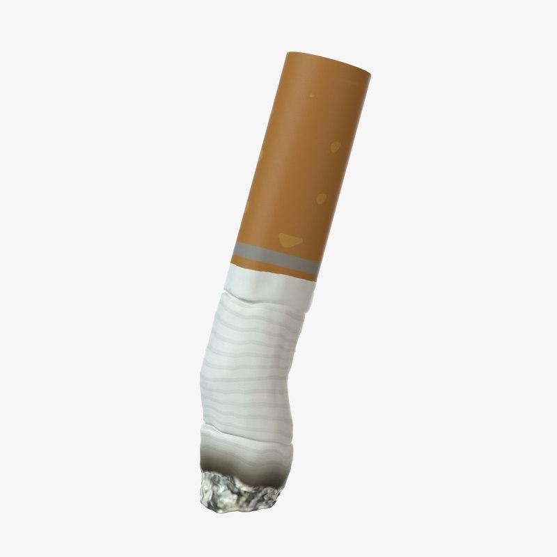 3D model cigarette small