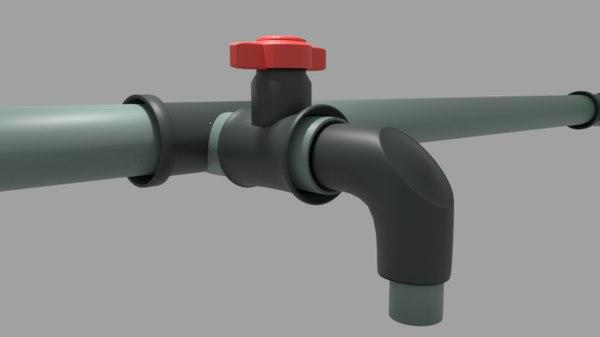 simple water tap 3D model