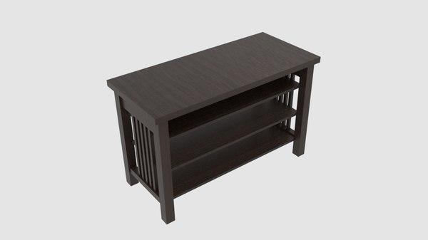 triple shelf table 3D