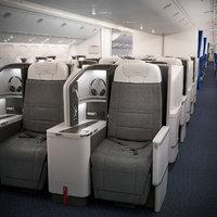 boeing 777 cabin 3D model