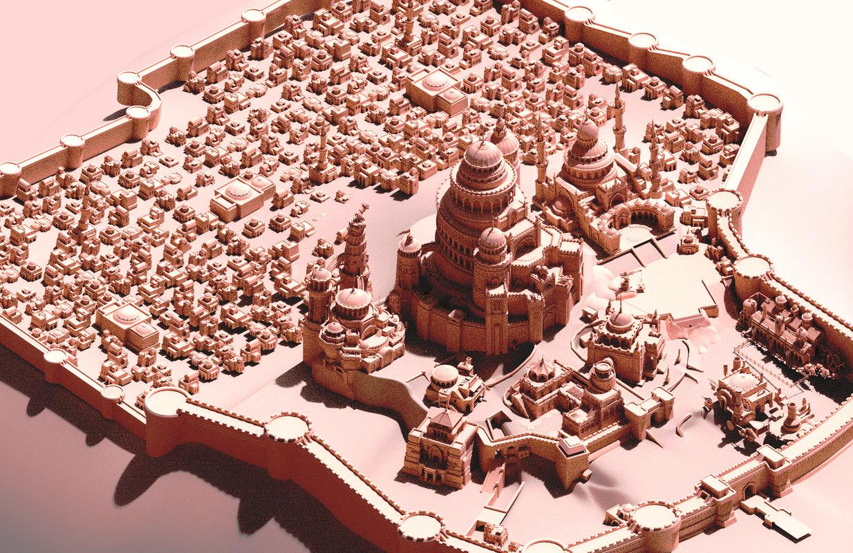 arab ancient 3D model