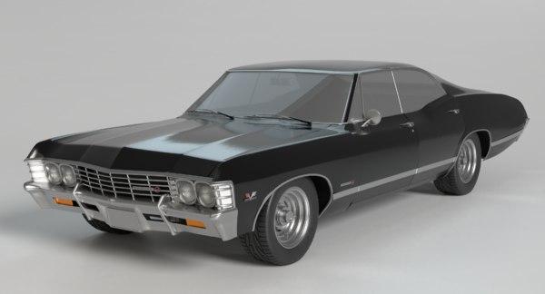 1967 Impala 3d Modell Turbosquid 776807