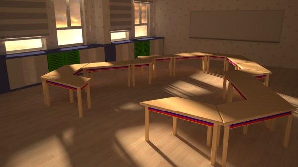 kindergarten table 3D