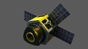 dubaisat-2 satellite 3D model