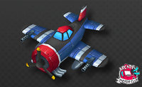 Cartoon Vintage Fighter Plane