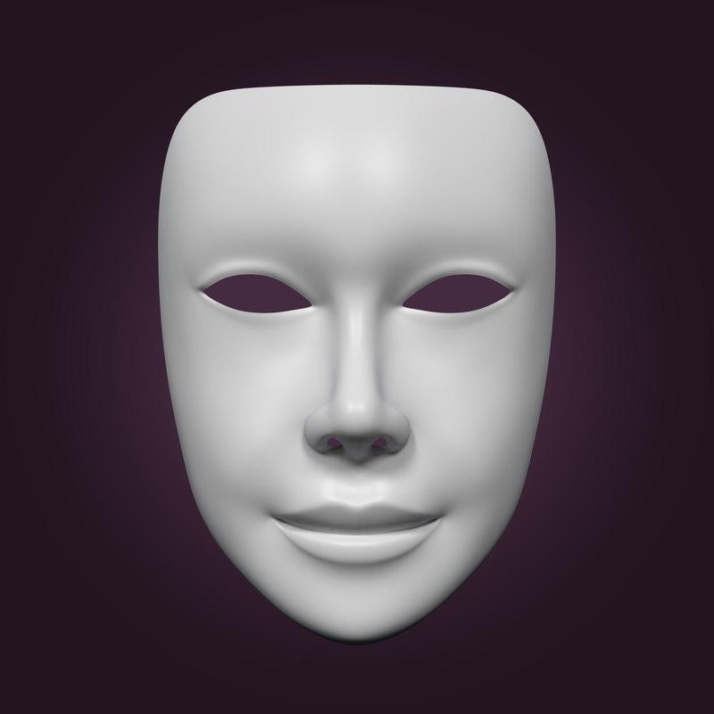 neutral mask 3D model