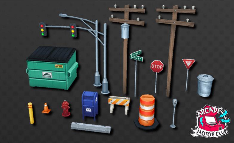 3D street prop pack