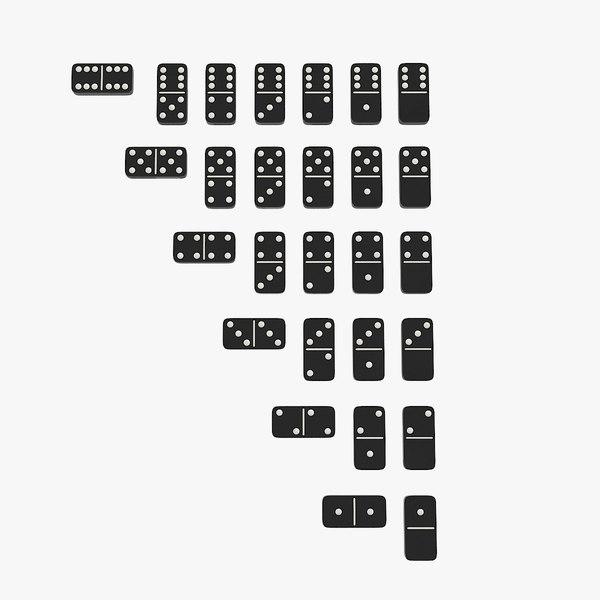 3D realistic domino model