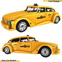 3D taxi car model