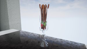 3D furniture norvedem glass vase model